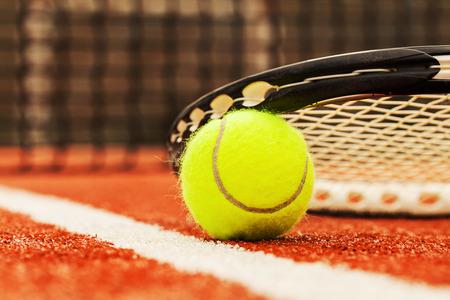 net: tennis ball on a tennis court