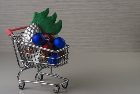 cart with christmas tree toys 5