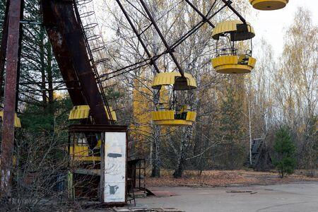 Ferris wheel in the ghost town of Pripyat in Chernobyl