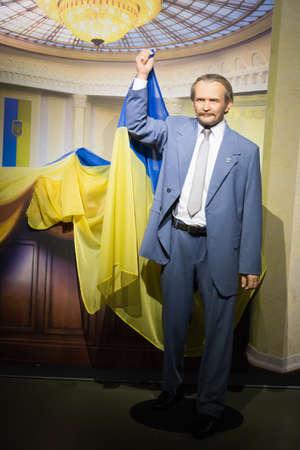 Kyiv, Ukraine 09.01.2020: A wax sculpture of the Viacheslav Chornovil Editorial