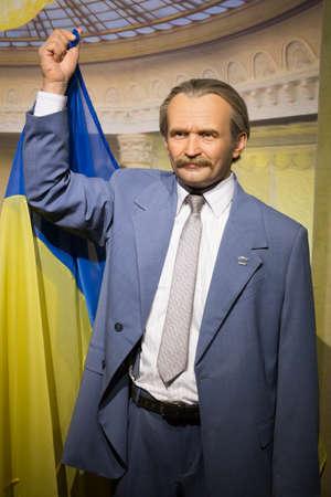 Kyiv, Ukraine 09.01.2020: A wax sculpture of the Hero of  the Soviet Union Army
