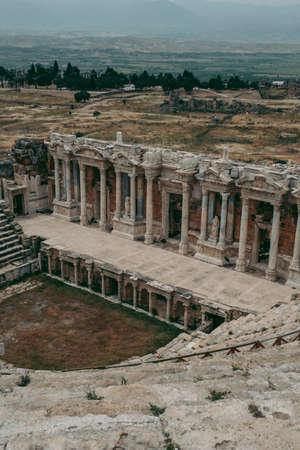 Ancient Roman amphitheater made of stone under the open sky in Pamukkale in Turkey Reklamní fotografie