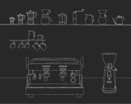 espresso: Espresso Bar Hand Drawn Style