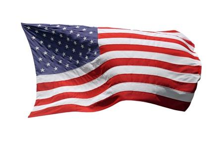 US-American flag, isolated on white background photo