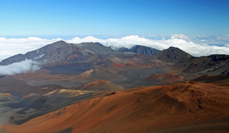 caldera: Caldera of the Haleakala volcano HDR (Maui, Hawaii) Stock Photo