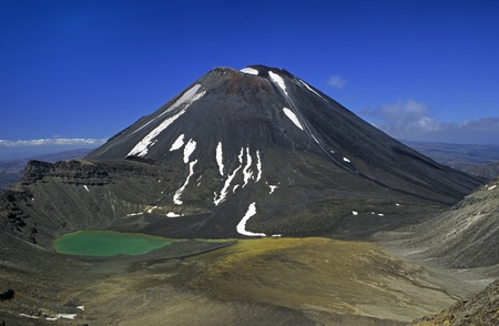 active volcano: Active Volcano Mount Ngauruhoe (Tongariro N.P., New Zealand) Stock Photo