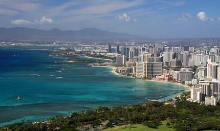 View of Waikiki from Diamond Head (Honolulu, Hawaii) 02 photo