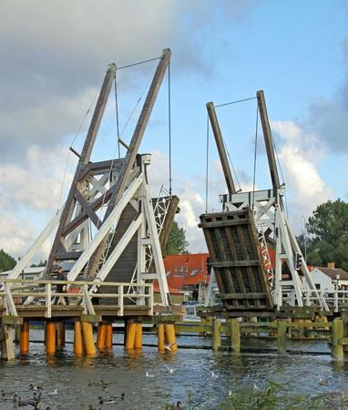 echnology: Open historic bridge in Eldena (North Germany)  02 Stock Photo