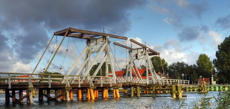 echnology: Historic bridge in Eldena (North Germany)  Stock Photo