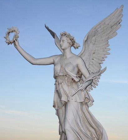 angel statue: Statue of the goddes Nike