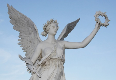freigestellt: Statue of the goddes Nike  Stock Photo