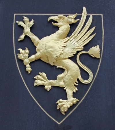 Griffin as a symbol for a coat of arms photo