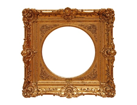 freigestellt: Antique golden Frame, isolated on white background
