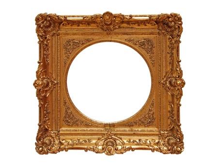 freigestellt: Antique golden Frame, isolated on white background