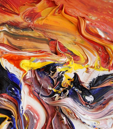 oil paintings: close-up view of oil colours