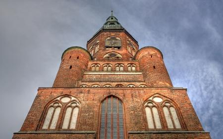 attraktion: Cathedral St. Nikolai in Greifswald (Mecklenburg-Vorpommern, Germany) - HDR image Stock Photo