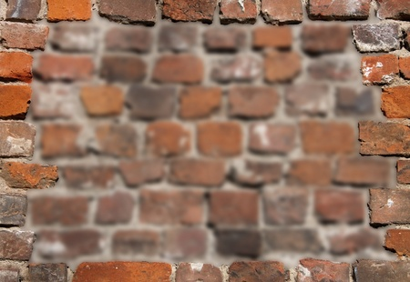 Old brick wall as background photo