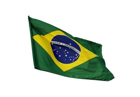 brazilian: Brazilian flag, isolated on white background
