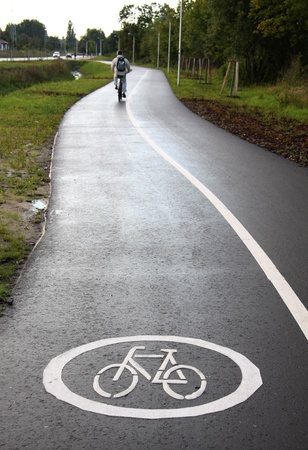 healthy path: Cycle track Stock Photo