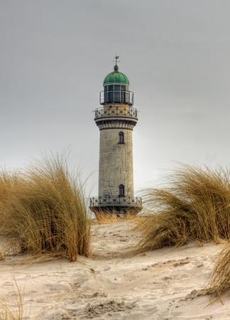 attraktion: Lighttower in Warnemuende (Mecklenburg-Vorpommern, Germany) 04 Stock Photo
