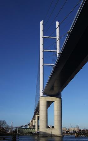 attraktion: Rugia Bridge in Stralsund (Germany) Stock Photo