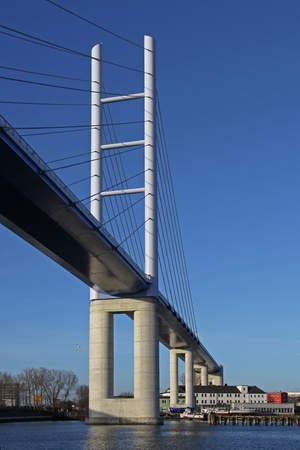 reprimanding: view of the Rugia Bridge in Stralsund (Germany) 02 Stock Photo