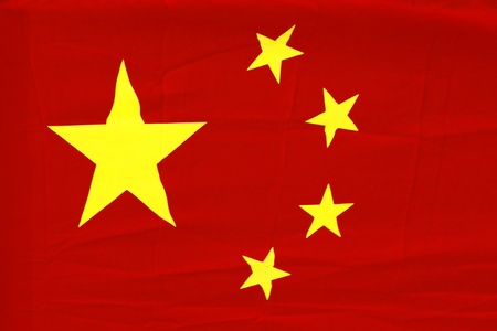 Detailed view of a china flag Stock Photo - 12551758