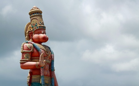 Tallest statue of the hinduism god Hanuman outside of India - Hanuman Murti, Trinidad with copy space Stock Photo - 12551808