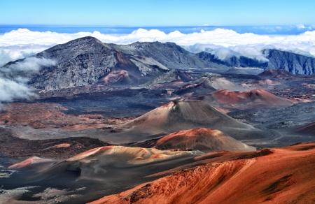 Caldera of the Haleakala volcano  Maui, Hawaii  - HDR image