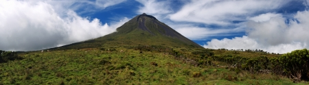viewpoints: Panoramic view of Volcano Mount Pico at Pico island  Azores