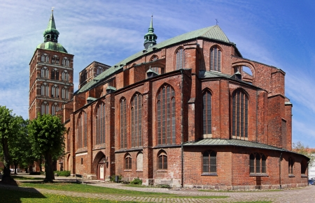 Church St   Nikolai in Stralsund, Germany - Panoramic view photo