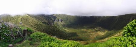 attraktion: Volcanic Caldeira of Faial, Azores - Panoramic view