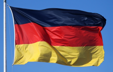 close-up of a national flag of Germany photo
