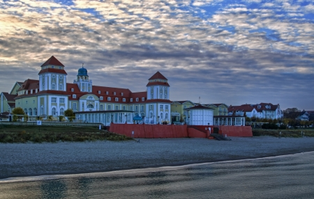 Evening at the beach of Binz, Baltic coast Germany - HDR-image