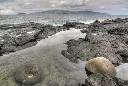 madalena: Coastline near Madalena  Pico Island, Azores  - HDR image