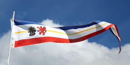Pennon Flag of the county Mecklenburg-Vorpommern, Germany photo