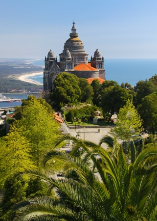 Basilica de Santa Luzia near Viana do Castelo, Portugal Stock Photo
