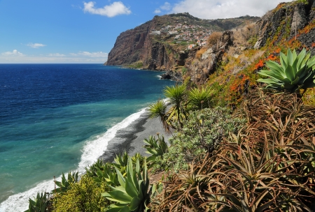 Cliff Cabo Girao at southern coast of Madeira  Portugal  03 photo