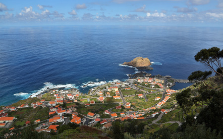 little town: Little town Porto Moniz at Madeira, Portugal