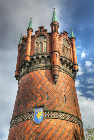 rostock: Water tower of Rostock, Germany - HDR image Editorial