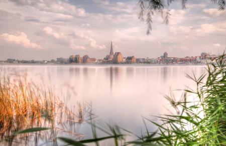 rostock: City port of Rostock (Mecklenburg-Vorpommern, Germany) - sepia tone