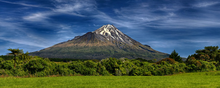 Volcano Taranaki, New Zealand - HDR panorama