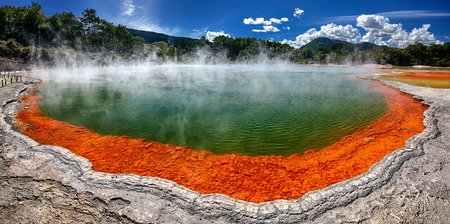 Thermal lake Champagne Pool at Wai-O-Tapu, New Zealand
