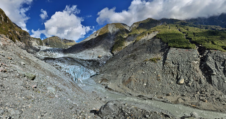 fox glacier: Panoramic view over Fox glacier - Westland, New Zealand