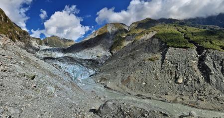westland: Panoramic view over Fox glacier - Westland, New Zealand