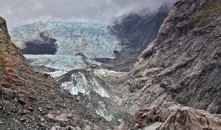 westland: View over Franz Joseph glacier - Westland, New Zealand