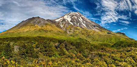 egmont: Volcano Taranaki New Zealand  HDR panorama 02
