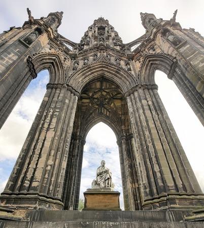princes street: Scott Monument on Princes Street in Edinburgh - Scotland
