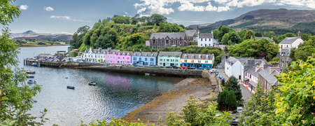 Harbour of Portree - Isle of Skye, Scotland Stock Photo