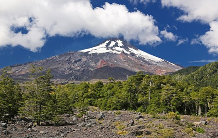 Volcano Villarriva at Villarrica NP - Chile